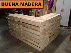 escritorio / mostrador rustico de madera // buena madera