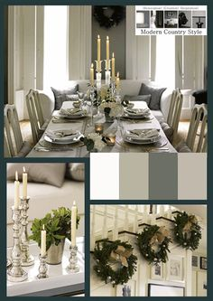 Modern Country Style: Get The Look: Neutral Christmas Click through for details.