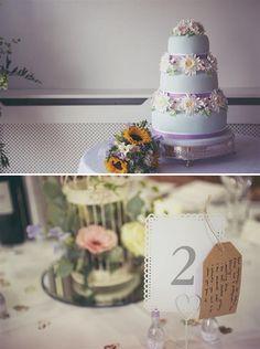 daisy wedding cake, image by Devlin Photos