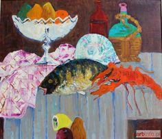 Jan SZANCENBACH ● Martwa natura z rakiem i rybą (1997) ●