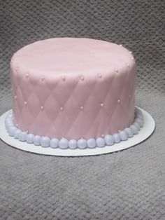Quilted birthday cake for girl