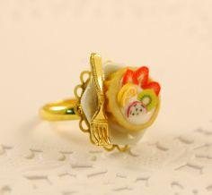 fruit tart ring - food jewelry