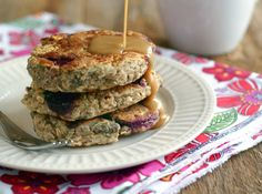 Cherry-Oat Pancakes--thick and fluffy! Vegan and no refined sugars, too.