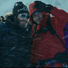 "Jake Gyllenhaal and Jason Clarke in ""Everest""."
