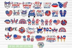Fourth Of July Shirts, 4th Of July, Patriotic Crafts, Iphone Icon, Svg Files For Cricut, Painted Rocks, Design Bundles, American Flag, Red And White