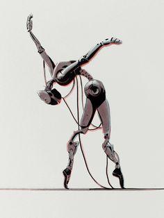"""Dancer"" Art Print by Señor Salme on Society6."
