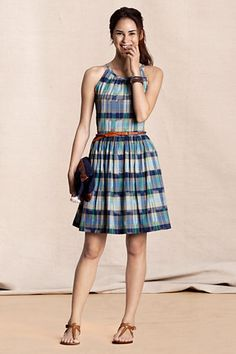 Women's Madras Dress from Lands' End Canvas