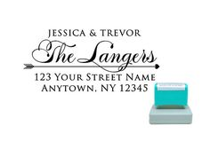 Personalized Self Inking Pre Inked Custom Made Return Address Stamp R217