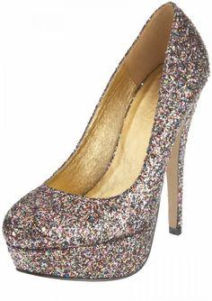 Zapatos fantasía con brillos de colores de TopShop