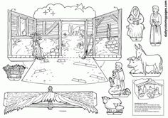 christmas nativity coloring pages for adults - Google Search