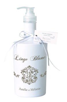 Savon liquide 300 ml  - Linge Blanc - Amélie et Mélanie
