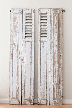 Vintage French Gray Shutters Aproveite as portas antigas para decorar www.reciclardecorar.net