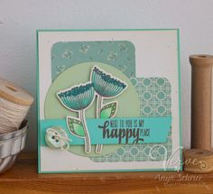Created by Anya Schrier using the Happy Place stamp set and Happy Doodles Die set from Verve.