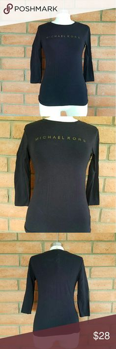 Michael kors long sleeve Michael kors long sleeve with Michael kors named printed in front in gold font. Michael Kors Tops Tees - Long Sleeve
