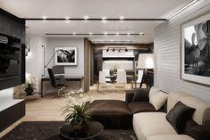 Квартира для молодого парня в современном стиле - Галерея 3ddd.ru