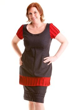 Made by Anne-Britt Nygaard. Facebook: 2sisters redesign This is made from a big skirt combined with a piece of red fabrics. Wool in nice quality