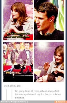 Matt Smith and Jenna Coleman are adorable