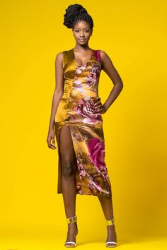 """Nigeria's Queen E. Presents A Beautiful Floral Collection Entitled """"Vividly Royal"""" Collection 