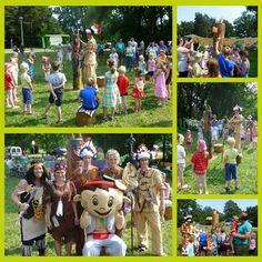 Indianerfest in Templin mit unserem Maskottchen YOKI AHORN