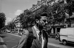 Backpack + jacket + vintage tie