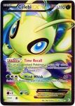 Name: Celebi-EX Manufacturer: Pokemon USA Series: Boundaries Crossed Release Date: November 7, 2012 Card Number: 141 Card Rarity: Super Rare Holo Condition:  *Notes: Cards may be normal or reverse foil we do not differentiate between the two.