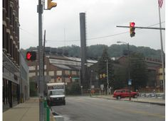The big building in the back is the Cambria Iron Works building...this building has withstood not only the test of time, but SEVERAL floods that have devastated Johnstown