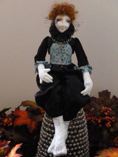 Art Doll  Rilla  OOAK by littlebirdartistry on Etsy - Created by Mindy Bush