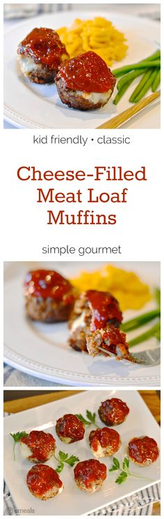 Cheese-Filled Meat Loaf Muffins | eMeals