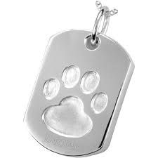 Image result for mens dog tags australia with paw impression