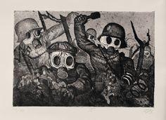 Weimar: Art of the First World War; Otto Dix, Stormtroopers During a Gas Attack, 1924 Emil Nolde, World War One, First World, Max Oppenheimer, Art Dégénéré, Cultura Judaica, Ww1 Art, George Grosz, Degenerate Art