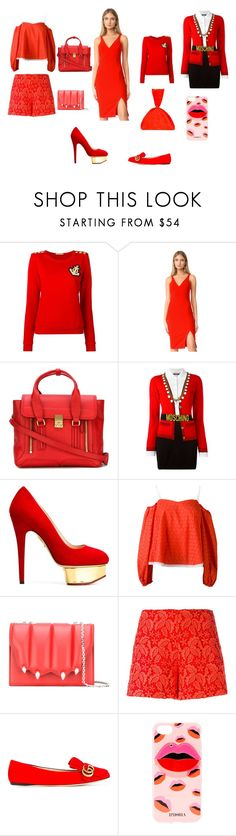 """""""Fashion never ends"""" by emmamegan-5678 ❤ liked on Polyvore featuring Pierre Balmain, Likely, 3.1 Phillip Lim, Moschino, Charlotte Olympia, Anna October, Marco de Vincenzo, Giamba, Gucci and Iphoria"""
