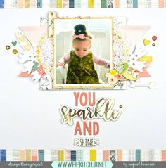 Add fun clusters using embellishments from the #october2016 #hipkits just like designer Raquels's @raquelp  pretty layout of her daughter!  @hipkitclub @simplestories_ #posh @wermemorykeepers #honeyimhome @cratepaper @maggiehdesign #gather #silhouettecameo #cutfiles #hkcexclusives #exclusives #papercrafting #kitclub  #scrapbookingkitclub