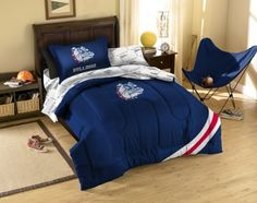 NCAA Gonzaga Bulldogs Bedding Set by Northwest. $89.63. 1COL/88100/4120/BBB Size: Full Features: -Material: Polyester / cotton blend.-Make your room announce your love for America's favorite pastime sport. Includes: -Twin size set includes sham, pillowcase, flat sheet, fitted sheet and appliqu comforter.-Full size set includes 2 sham, 2 pillowcase, flat sheet, fitted sheet and appliqu comforter. Options: -Available in Twin or Full sizes. Color/Finish: -Official Gonzaga team lo...