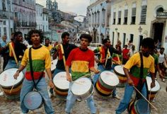 """Michael Jackson's """"They Don't Really Care About Us"""" highlights the important work of Olodum in Brazilian slums Diy Carnival, Brazil Carnival, Visit Brazil, Alice In Wonderland Tea Party, Poor Children, Street Dance, Old Building, Him Band, Slums"""