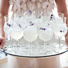 Lavender Lemonade. So pretty for a spring wedding reception!