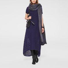 Sarah Pacini. Bias-cut stripey dress. Excellent idea also for a tunic.