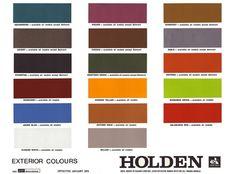 13 best Holden HQ Colours images | Color boards, Paint