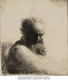 REMBRANDT van Rijn,  Dutch  (1606-1669)_Bust of an Old Bearded Man in Teylers Museum 1631