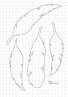 Free feather template to use for bead embroidery Feather Template, Feather Stencil, Feather Pattern, Feather Wall Art, Paper Art, Paper Crafts, Diy Paper, Paper Book, Scrappy Quilts