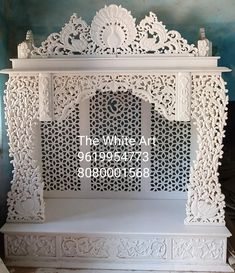 Temple Room, Home Temple, Marble Interior, Luxury Interior, Temple Design For Home, Mandir Design, Pooja Mandir, Marble Carving, Pooja Room Door Design