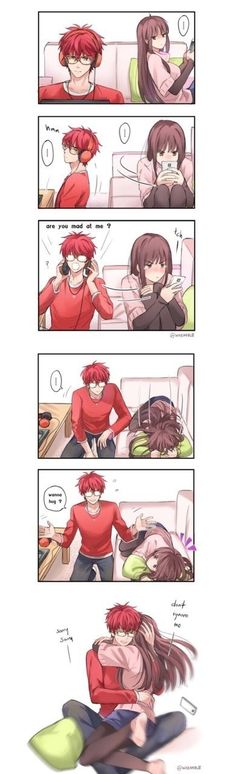 Saeyoung (Luciel/Seven/707/Defender of Justice) x MC | This is so cute.❤