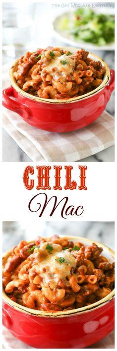 Chili Mac - a spicy twist on macaroni and cheese.