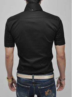 camisa para hombre de slim fit casual