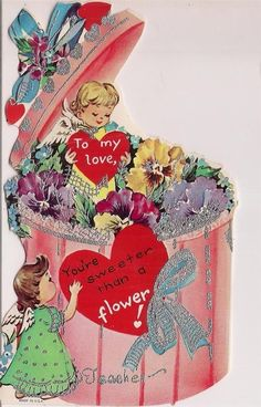 Here's a bundle of cuteness from the mid-century. | 21 Ridiculously Adorable Vintage Valentine's Day Cards