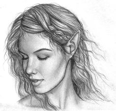 beautiful elf sketch