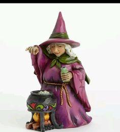 Jim Shore Wee Bit Wicked Witch Cauldron Halloween Pint Sized Figurine 4041140