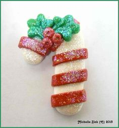 NEW+Polymer+Clay+Candy+Cane+Pendant+Charm+by+michellesclaybeads,+$3.00