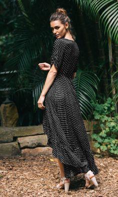 LOVE OF ME MAXI DRESS IN POLKA DOT   Koogal Australia – KOOGAL