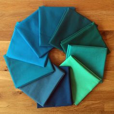 July teal Colour of the Month Club Kona Cotton Solids bundle from The Village Haberdashery