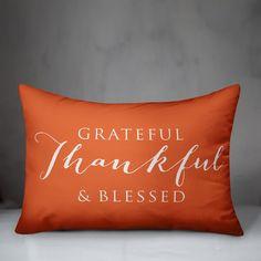Gracie Oaks Cogdill Grateful Thankful Blessed Indoor/Outdoor Lumbar Pillow & Reviews | Wayfair Faux Fur Throw, Decorative Pillows, Bed Pillows, Blanket, Decorative Throw Pillows, Pillows, Faux Fur Blanket, Decorative Bed Pillows, Throw Pillows